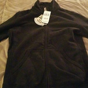 NWT Juicy Couture Black Fleece Zip Up